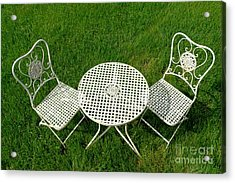 Lawn Furniture Acrylic Print by Olivier Le Queinec