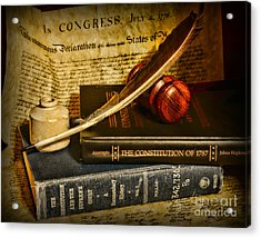 Lawyer - The Constitutional Lawyer Acrylic Print by Paul Ward