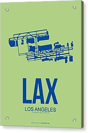 Lax Airport Poster 1 Acrylic Print by Naxart Studio