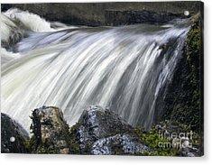 Lazerne Falls Cascade Acrylic Print by Darleen Stry