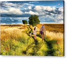 Lazy Summer Afternoon Acrylic Print by Tom Schmidt