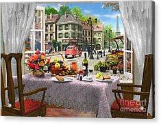 Le Cafe Paris Acrylic Print by Dominic Davison