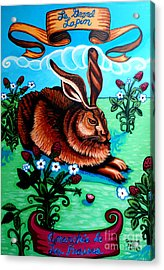 Le Grand Lapin Anarchie Acrylic Print by Genevieve Esson