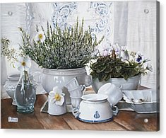Le Tazze Rovesciate Acrylic Print by Danka Weitzen