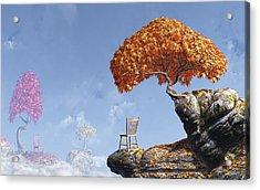 Leaf Peepers Acrylic Print by Cynthia Decker