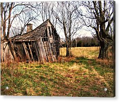 Lean To Acrylic Print by Marty Koch