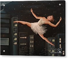 Leap  Acrylic Print by Lucy Stamatinos