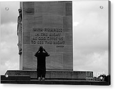 Learning From Lincoln Acrylic Print by James Brunker