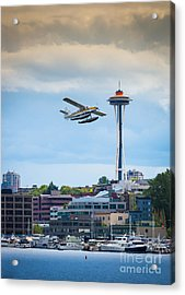 Leaving Seattle Acrylic Print by Inge Johnsson