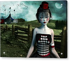 Leaving The Circus Acrylic Print by Britta Glodde