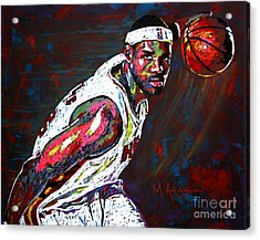 Lebron James 2 Acrylic Print by Maria Arango