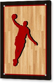 Lebron James Miami Heat Acrylic Print by Joe Hamilton