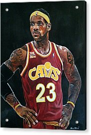 Lebron James Returns To The Cleveland Cavaliers Acrylic Print by Michael  Pattison