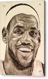Lebron James Acrylic Print by Tamir Barkan