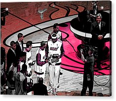 Lebron's 1st Ring Acrylic Print by J Anthony