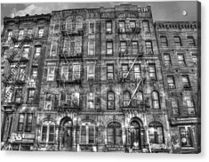 Led Zeppelin Physical Graffiti Building In Black And White Acrylic Print by Randy Aveille