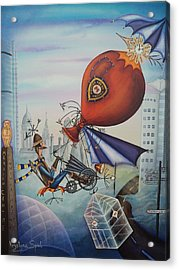 Leeds Gentleman Flies Again Acrylic Print by Krystyna Spink