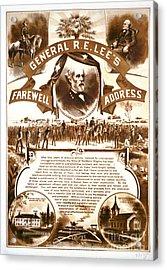 Lee's Farewell Address 1865 Acrylic Print by Padre Art