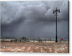 Left In The Power Of The Storm Acrylic Print by Evelina Kremsdorf