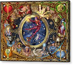 Legacy Of The Divine Tarot Acrylic Print by Ciro Marchetti