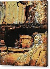 Legendary Lost Dutchman Mine Acrylic Print by JAXINE Cummins