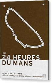 Legendary Races - 1923 24 Heures Du Mans Acrylic Print by Chungkong Art