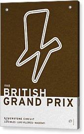 Legendary Races - 1948 British Grand Prix Acrylic Print by Chungkong Art
