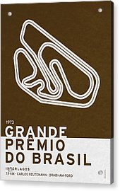 Legendary Races - 1973 Grande Premio Do Brasil Acrylic Print by Chungkong Art