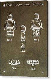 Lego Man Patent Acrylic Print by Dan Sproul