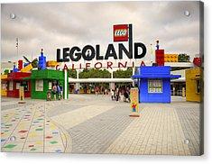 Legoland California Acrylic Print by Ricky Barnard