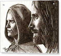 Legolas And Aragorn Acrylic Print by Maren Jeskanen