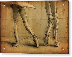 Legs Acrylic Print by H James Hoff