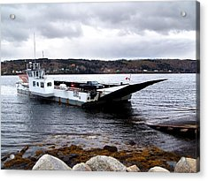 Lehave Cable Ferry Acrylic Print by Janet Ashworth