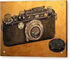 Leica II Camera Acrylic Print by Juan  Bosco