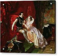 Leicester And Amy Robsart At Cumnor Acrylic Print by Edward Matthew Ward