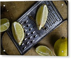 Lemon And Grater Acrylic Print by Nailia Schwarz