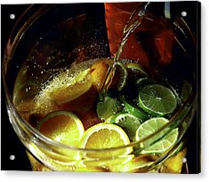 Lemon Limeade Acrylic Print by Camille Lopez