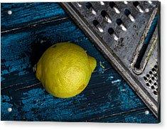 Lemon Acrylic Print by Nailia Schwarz