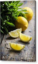 Lemon Slices Acrylic Print by Jelena Jovanovic