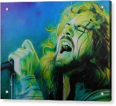 Eddie Vedder - ' Lemon Yellow Sun ' Acrylic Print by Christian Chapman Art