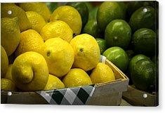 Lemons And Limes Acrylic Print by Julie Palencia