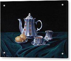 Lemons And Tea Acrylic Print by Anastasiya Malakhova