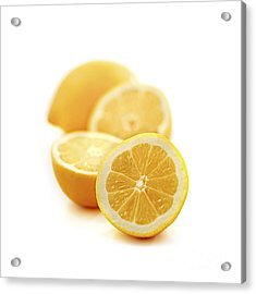 Lemons Acrylic Print by Elena Elisseeva