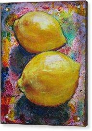 Lemons Acrylic Print by Sheila Diemert