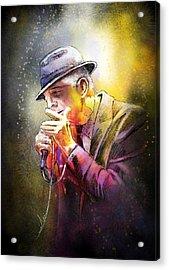 Leonard Cohen 02 Acrylic Print by Miki De Goodaboom
