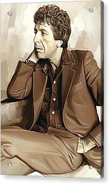 Leonard Cohen Artwork 2 Acrylic Print by Sheraz A