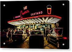 Leon's Frozen Custard Acrylic Print by Scott Norris