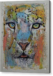 Leopard Acrylic Print by Michael Creese
