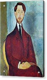 Leopold Zborowski Acrylic Print by Amedeo Modigliani