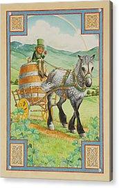 Leprechaun Acrylic Print by Lynn Bywaters